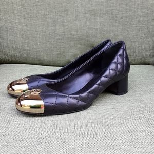 Tory Burch Kaitlin quilted leather ballet flat.